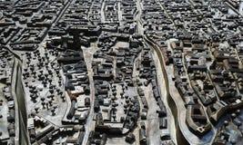 Modelo miniatura de la ciudad de Zagreb en Croacia imagenes de archivo