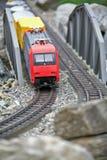 Modelo miniatura del juguete del tren moderno Fotografía de archivo libre de regalías