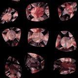 Modelo modelado de cristales stock de ilustración