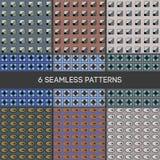 MODELO 12 6 modelos inconsútiles geométricos stock de ilustración