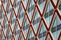 Modelo moderno de la fachada de la arquitectura fotos de archivo libres de regalías