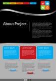 Modelo moderno del asunto del Web site Fotos de archivo libres de regalías
