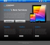 Modelo moderno del diseño del Web site Fotografía de archivo