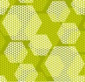 Modelo moderno del hexagone de la geometría del concepto Imágenes de archivo libres de regalías