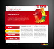 Modelo moderno del Web page libre illustration