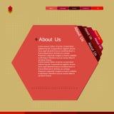 Modelo moderno del Web site Foto de archivo libre de regalías