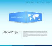 Modelo moderno del Web site Fotografía de archivo