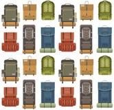 Modelo moderno plano de las mochilas Imágenes de archivo libres de regalías