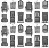 Modelo moderno plano de las mochilas Imagen de archivo