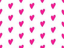 Modelo moderno romántico con los corazones a mano en color rosado plástico ilustración del vector
