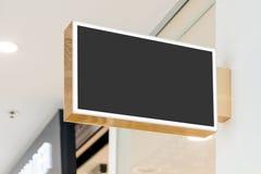 Modelo moderno vazio do signage da loja imagens de stock