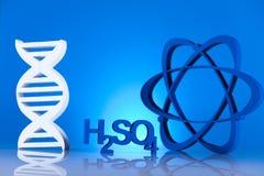 Modelo molecular, átomo Imagenes de archivo