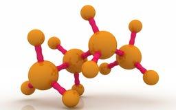 modelo molecular 3d del butano en el fondo blanco Fotos de archivo