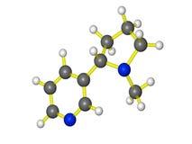 Modelo molecular da nicotina Foto de Stock Royalty Free