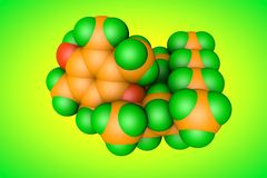 Modelo molecular da vitamina E, alfa-tocopherol Igualmente sabido como o aquasol E ou o phytogermine Fundo científico 3d ilustração do vetor