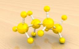 Modelo molecular del butano Imagen de archivo libre de regalías