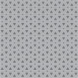 Modelo monocromático de la textura del fondo de Grey Triangle Clothing Fabric Vector stock de ilustración
