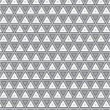 Modelo monocromático de la textura del fondo de Grey Triangle Clothing Fabric Vector ilustración del vector
