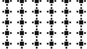 Modelo monocromático del bloque cuadrado Foto de archivo