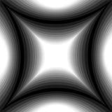 Modelo monocromático del rectángulo cóncavo que riela suavemente de luz a la oscuridad Efecto visual del volumen Extracto geométr libre illustration