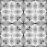Modelo monocromático inconsútil de la ilusión del diseño Foto de archivo libre de regalías