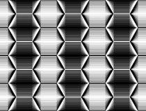 Modelo monocromático inconsútil del hexágono del diseño Foto de archivo