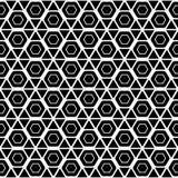 Modelo monocromático inconsútil del hexágono del diseño Imagenes de archivo