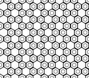 Modelo monocromático inconsútil del hexágono del diseño Fotos de archivo libres de regalías