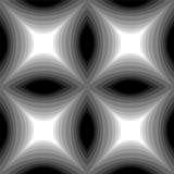 Modelo monocromático inconsútil del rectángulo cóncavo stock de ilustración