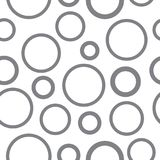 Modelo monocromático inconsútil gris de los círculos Fotografía de archivo