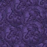 Modelo monocromático violeta inconsútil con las rosas Foto de archivo libre de regalías