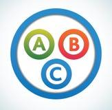 Modelo multicolor de los círculos de color de la presentación Fotos de archivo libres de regalías