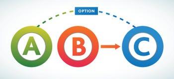 Modelo multicolor de los círculos de color de la presentación Imagen de archivo