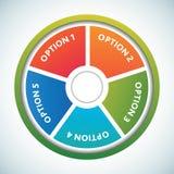 Modelo multicolor de los círculos de color de la presentación Imagenes de archivo