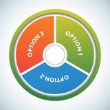 Modelo multicolor de los círculos de color de la presentación Imagen de archivo libre de regalías