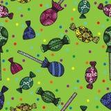 Modelo multicolor del caramelo inconsútil Imagen de archivo libre de regalías