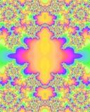 Modelo multicolor del fractal Foto de archivo