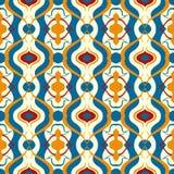 Modelo multicolor del vector con adorno árabe. ilustración del vector