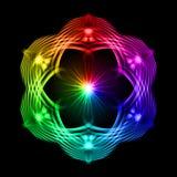 Modelo multicolor en el fondo negro ilustración del vector