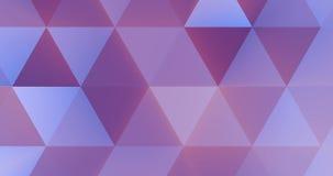 Modelo multicolor geométrico abstracto de los triángulos de la violeta y del rosa con el movimiento inconsútil del color del tras libre illustration
