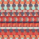Modelo multicolor tribal inconsútil del vector Fondo geométrico Imagen de archivo