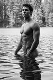 Modelo na água Fotos de Stock Royalty Free