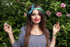 Modelo na moda do adolescente Imagens de Stock