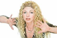 Modelo na peruca imagens de stock royalty free