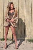 Modelo na praia Imagens de Stock Royalty Free