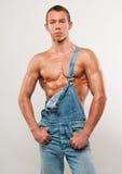 Modelo nas calças de brim Fotos de Stock Royalty Free