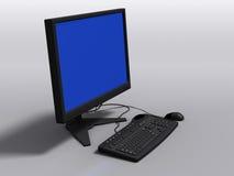 Modelo negro 3d del teclado, del monitor y del ratón Fotos de archivo libres de regalías