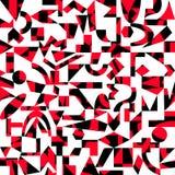 Modelo negro, blanco y rojo de formas geométricas Imagen de archivo libre de regalías