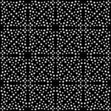 Modelo negro de Dots Repeated y blanco inconsútil Fotos de archivo