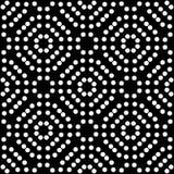 Modelo negro de Dots Repeated y blanco inconsútil Imagenes de archivo